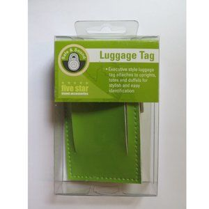 New Five Star Luggage Tag - Green